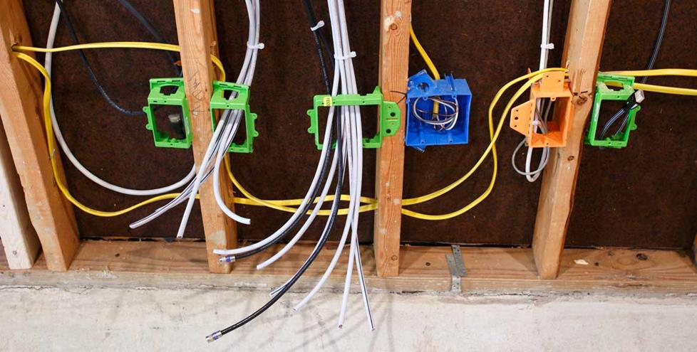 In-wall wiring.
