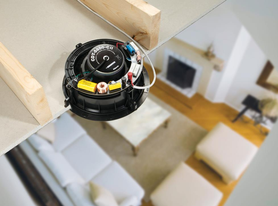 In-ceiling speaker viewed from the back.