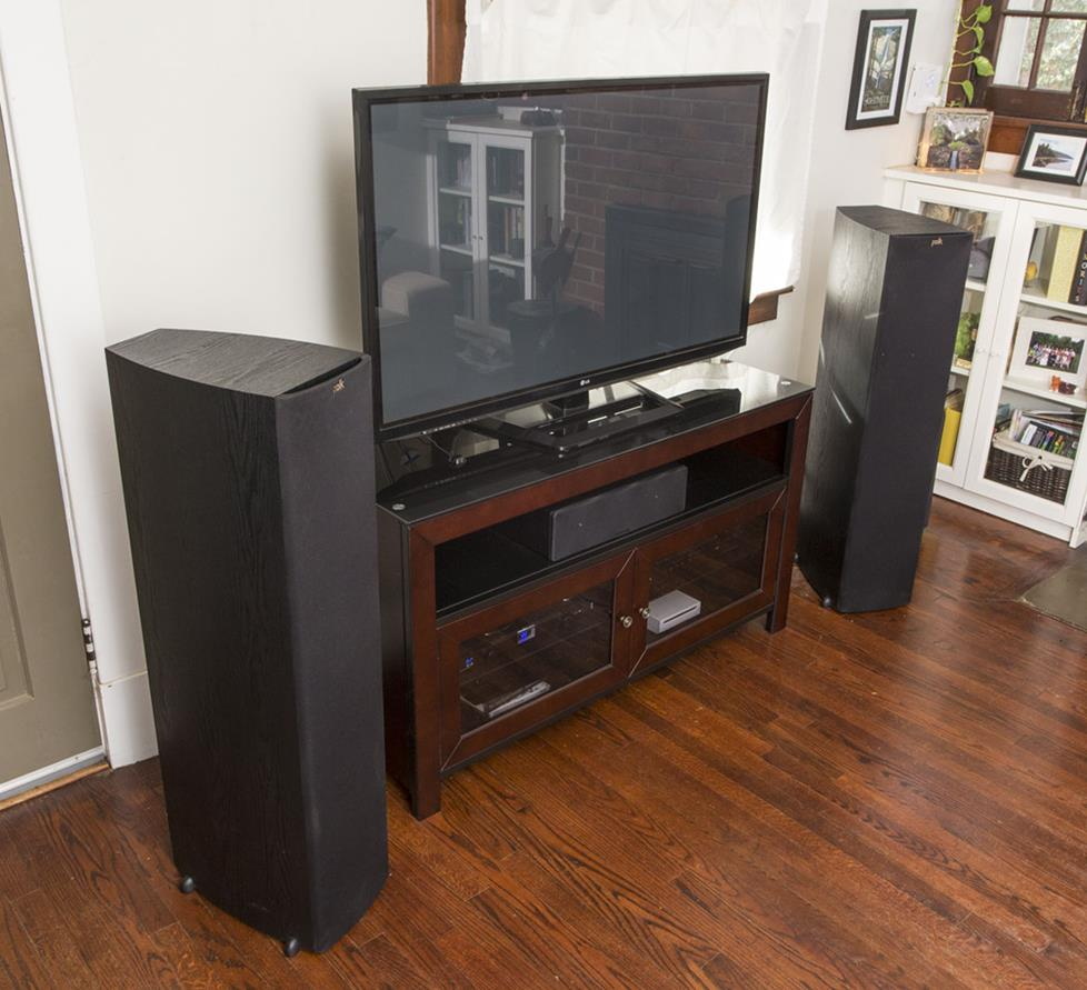 Speakers properly positioned